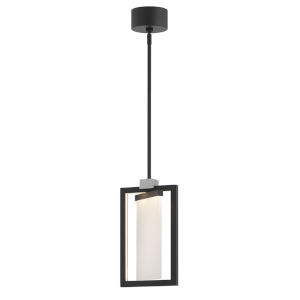 Folio Black LED Mini Pendant