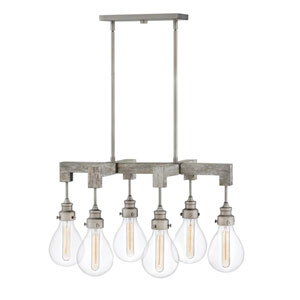 Denton Pewter Six-Light Island Pendant