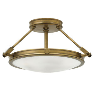 Collier Heritage Brass 17-Inch LED Semi-Flush Mount