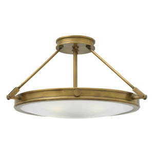 Collier Heritage Brass 22-Inch LED Semi-Flush Mount