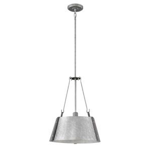 Cartwright Galvanized 15-Inch One-Light Pendant
