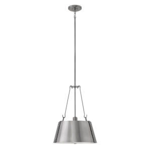 Cartwright Polished Nickel 15-Inch One-Light Pendant