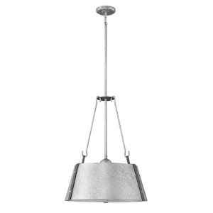 Cartwright Galvanized 20-Inch Three-Light Pendant