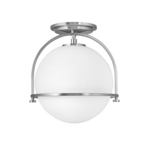 Somerset Brushed Nickel One-Light Semi-Flush Mount