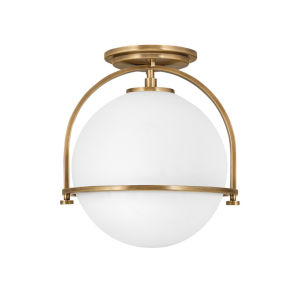 Somerset Heritage Brass One-Light Semi-Flush Mount