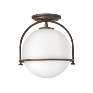 Somerset Buckeye Bronze One-Light Semi-Flush Mount