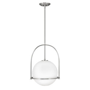 Somerset Brushed Nickel 16-Inch One-Light Pendant