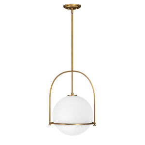 Somerset Heritage Brass 16-Inch One-Light Pendant