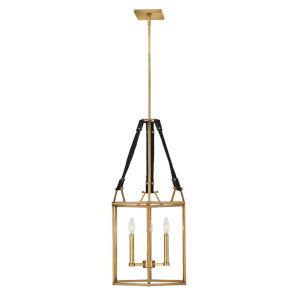 Monroe Heritage Brass Three-Light Chandelier