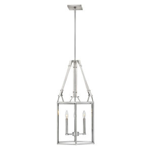 Monroe Polished Nickel Three-Light Chandelier
