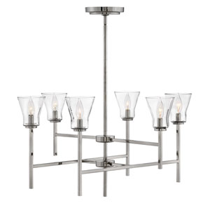Arden Polished Antique Nickel Six-Light Chandelier