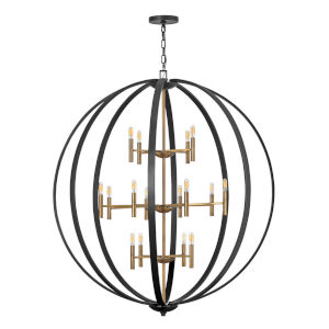 Euclid Spanish Bronze 16-Light Chandelier