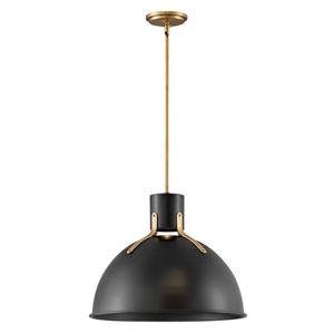 Argo Satin Black 20-Inch One-Light LED Pendant