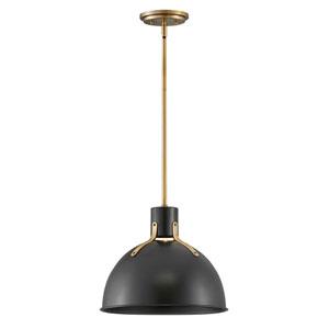 Argo Satin Black 14-Inch One-Light LED Pendant