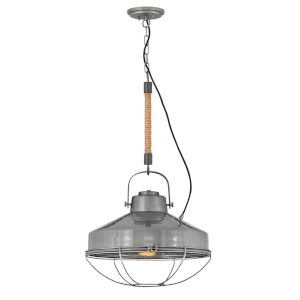 Brooklyn Rustic Pewter 18-Inch One-Light Pendant