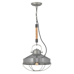 Brooklyn Rustic Pewter 14-Inch One-Light Pendant