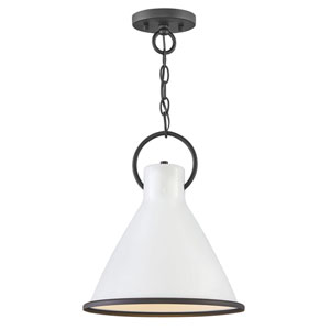 Winnie Polished White 12-Inch One-Light Pendant