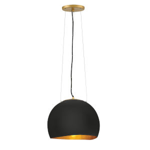 Nula Shell Black One-Light Pendant