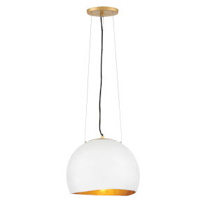 Nula Shell White One-Light Pendant