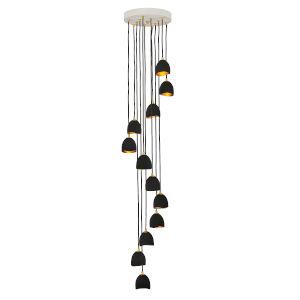 Nula Shell Black 12-Light Pendant