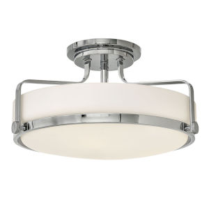 Harper Chrome 18-Inch LED Semi-Flush Mount