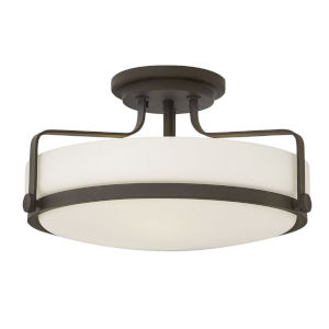 Harper Oil Rubbed Bronze 18-Inch LED Semi-Flush Mount
