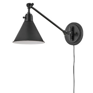 Arti Black Eight-Inch One-Light Wall Sconce