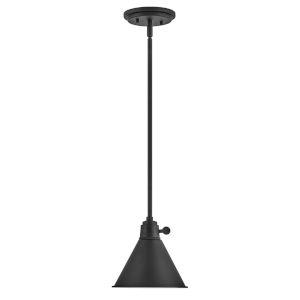 Arti Black 8-Inch One-Light Mini Pendant