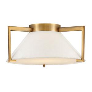 Calla Brushed Bronze 15-Inch LED Flush Mount
