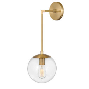 Warby Heritage Brass One-Light Wall Sconce
