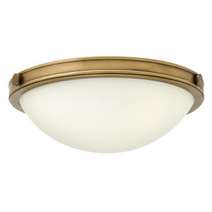 Maxwell Heritage Brass 14-Inch LED Flush Mount