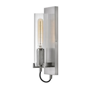 Ryden Brushed Nickel One-Light Wall Sconce With Clear Glass