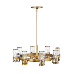 Reeve Heritage Brass Eight-Light Chandelier