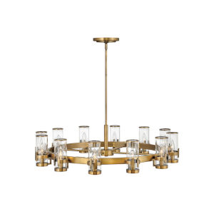 Reeve Heritage Brass 12-Light Chandelier