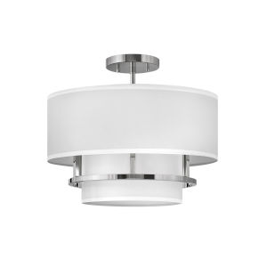 Graham Polished Nickel Three-Light Foyer Semi-Flush Mount