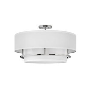 Graham Polished Nickel Four-Light Foyer Semi-Flush Mount