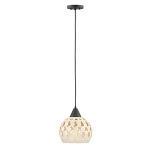 Edie Oil Rubbed Bronze 10-Inch One-Light Pendant