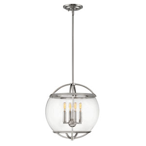 Calvin Polished Nickel Four-Light Pendant