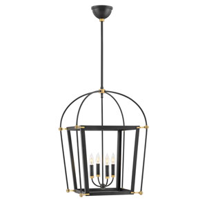 Selby Black 20-Inch Four-Light Pendant
