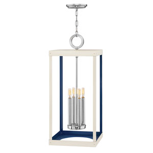 Porter Polished Nickel Four-Light Pendant