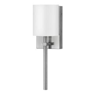 Avenue Brushed Nickel One-Light LED Wall Sconce with White Acrylic Shade