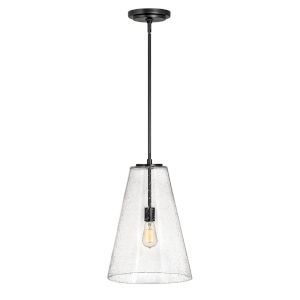 Vance Satin Black One-Light Pendant