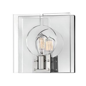 Ludlow Polished Nickel One-Light Sconce