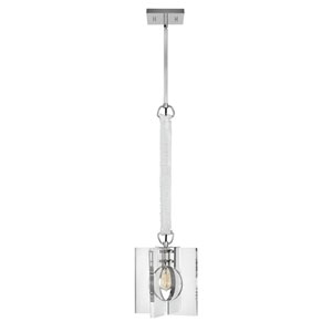 Ludlow Polished Nickel One-Light Pendant