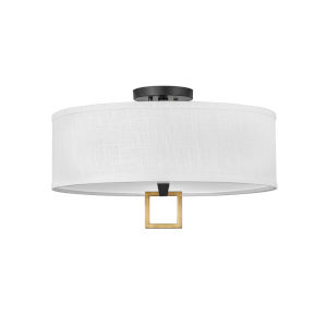 Link Black Three-Light LED Semi-Flush Mount