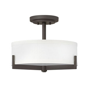 Hayes Oil Rubbed Bronze Three-Light Semi-Flush Mount