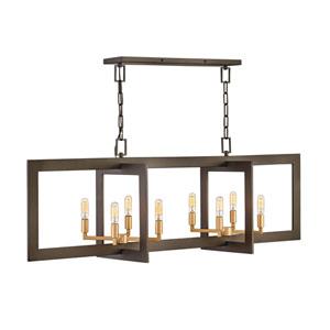 Anders Metallic Matte Bronze Eight-Light Chandelier