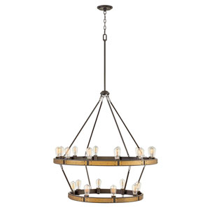 Everett Bronze 20-Light Chandelier