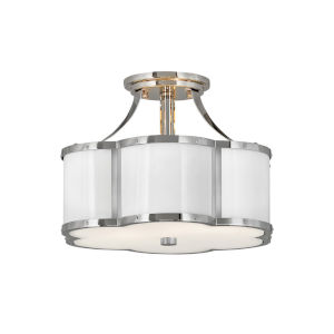 Chance Polished Nickel Two-Light Semi-Flush Mount