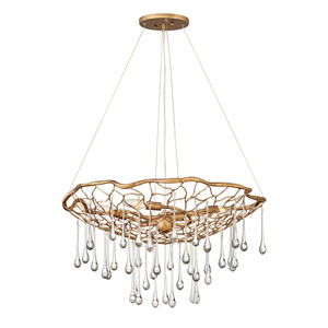 Laguna Burnished Gold Four-Light Chandelier